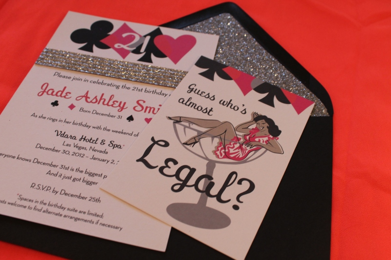 Vegas Party Invites
