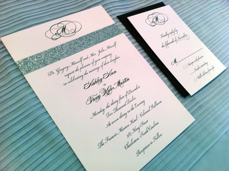New Year's Wedding Invitation and RSVP